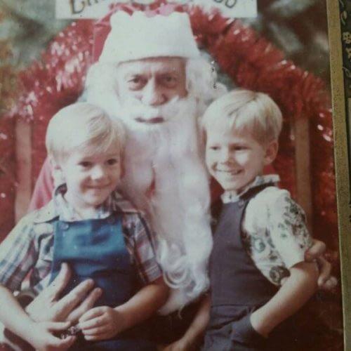 Daniel Tolson - Business Coach - 1983 - Daniel & Santa