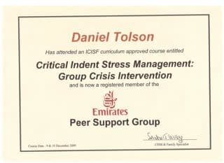 Daniel Tolson - Business Coach - 2009 - Emirates Peer Support Group
