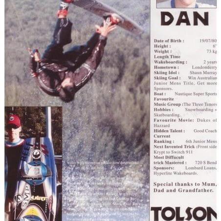 Daniel Tolson - Business Coach - 1996 - Waterskiers News